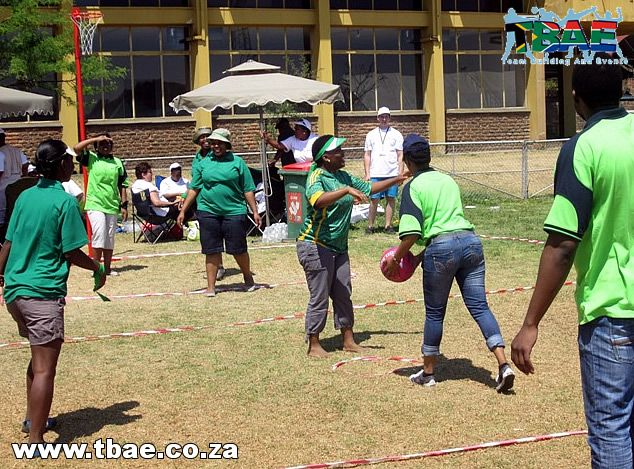 Netbal team building exercise is part of TBAE's Corporate Fun Day Team Building Activity.