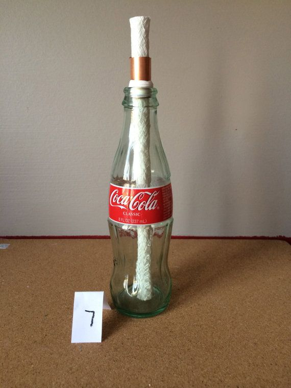 Small Coke Bottle Table Top Tiki Torch By TyrasTikiTorches On Etsy, $15.00