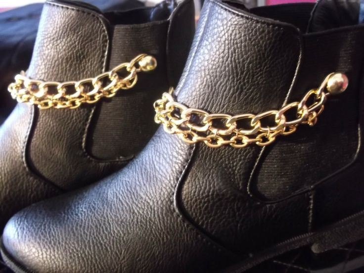 DIY Boots with Chains