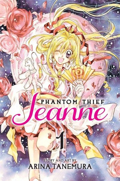 Phantom Thief Jeanne by Arina Tanemura. High school student Maron Kusakabe has a secret: she's Phantom Thief Jeanne, the reincarnation of Joan of Arc. She sneaks into private art collections to steal paintings in which demons reside.
