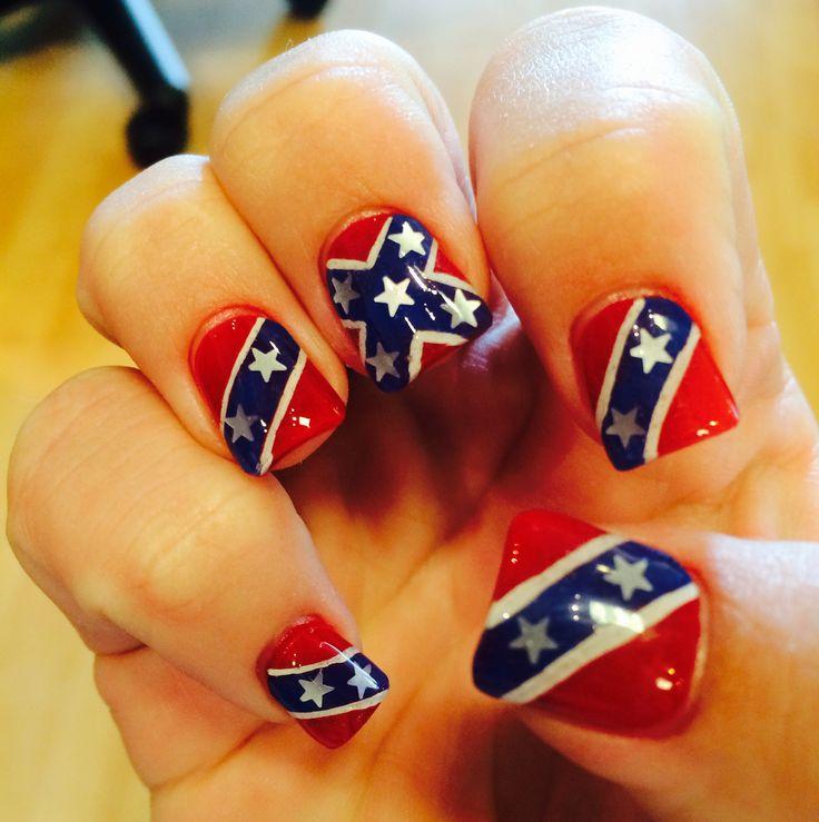 Confederate flag nails :)
