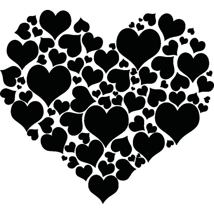 Bedroom wall decals - Wall decal different hearts | Ambiance-sticker.com