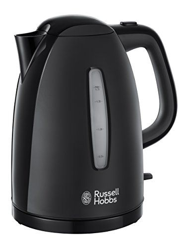 From 14.99 Russell Hobbs Textures Plastic Kettle 21271 1.7 L 3000 W - Black