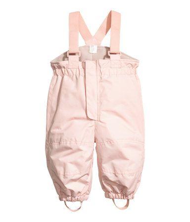 Outdoor Pants with Suspenders | Pink | KIDS | H&M US
