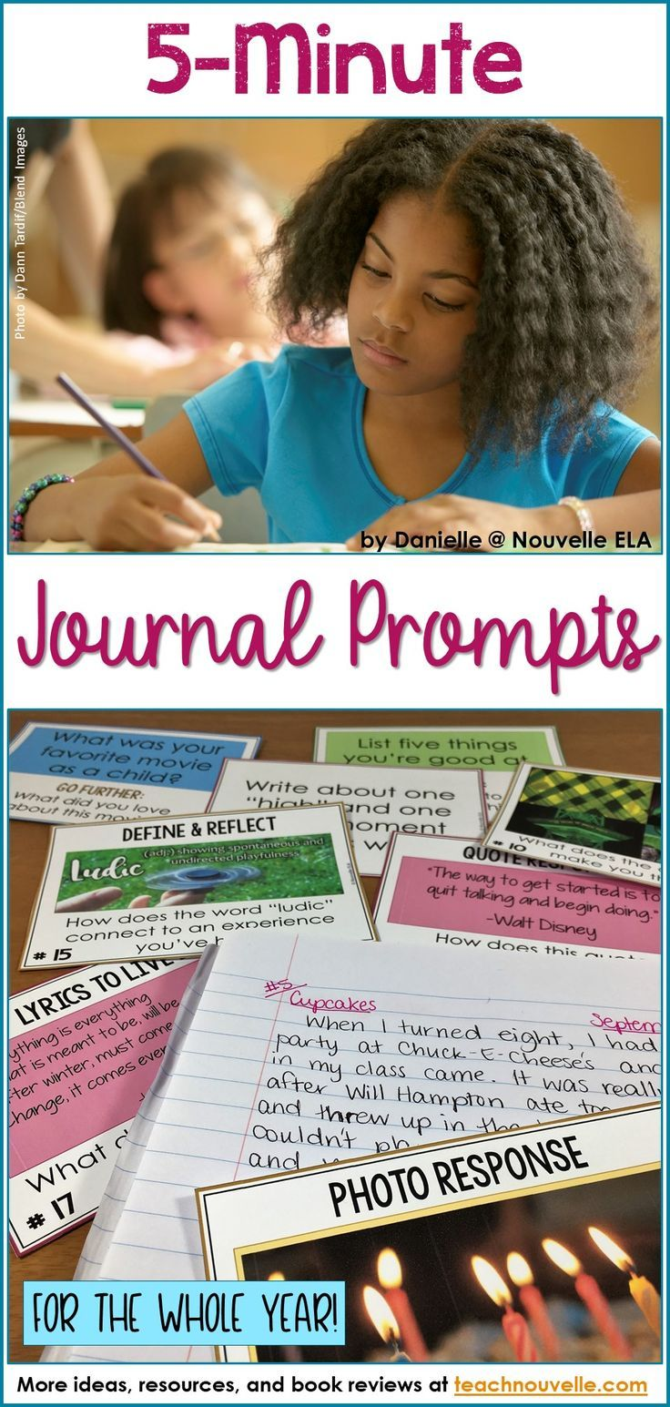 These personal journal prompts have been designed to be completed in five minutes or less. Students respond to a wide variety of topics and build confidence, endurance, creativity, and enthusiasm for daily writing. These are perfect for middle school bell ringers or as a daily closing activity. (Editable in PPT)