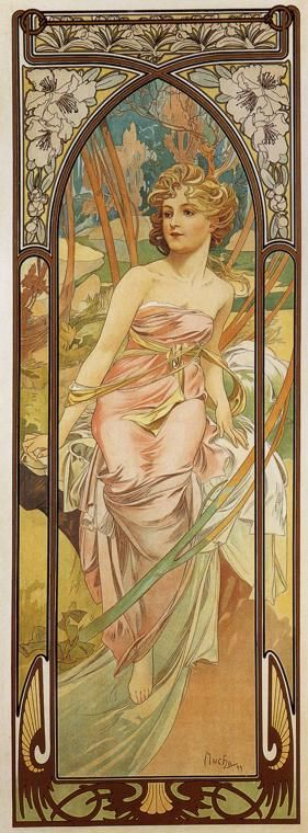 Alphonse Mucha - Morning Awakening - The Times of the Day series - 1899