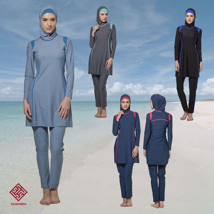 AlHamra Zarqa Modest Burkini Womens Islamic Muslim Swimwear Swimsuit S-6XL #AlHamraSwimwear