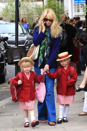 Claudia Schiffer does the school run in style: In Style, Supermodels Style