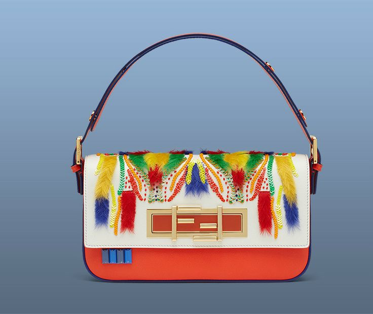 Leandra Medine has personalized special Fendi 3Baguette bag for the 3Baguette charity project.