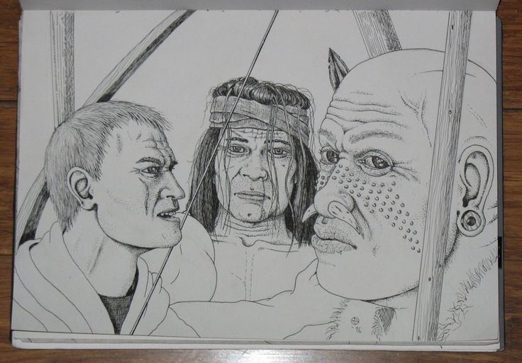 BROTHERS IN ARMS Sketch for some figures in a group drawing (looking to have 5 people in the actual drawing - 1 being female)