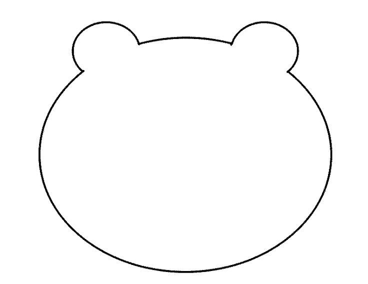 free printable template of a bear head - Yahoo Image Search Results