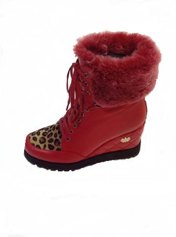 Festive red AND leopard - waht more could a girl want ? Leather sheepskin lined wedge ankle boot. We are loving these. Exclusive to us at www.shoesatgoody2shoes.co.uk
