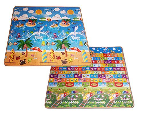 Kids Baby Play Mat Crawling Reversible Activity Extra Large Foam Mat Gym Non-toxic Non-slip Waterproof Indoor / Outdoor. For product info go to: https://all4babies.co.business/kids-baby-play-mat-crawling-reversible-activity-extra-large-foam-mat-gym-non-toxic-non-slip-waterproof-indoor-outdoor/