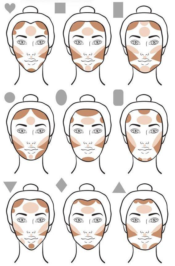 Pin de Fran Andrade en arte em maquiagem estudo | Tutoriales de maquillaje contorno, Tutoriales de belleza, Tutorial de maquillaje natural