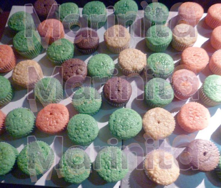 Cupcakes de todos los colores y sabores!!!
