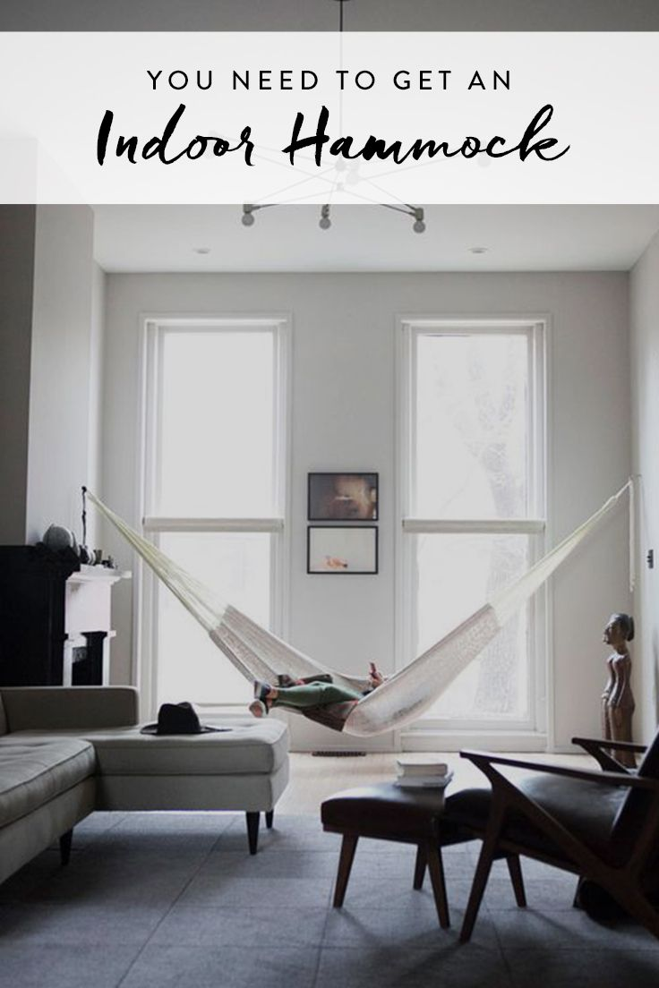 The Indoor Hammock Is the Greatest Thing to Happen to Lazy Days via @PureWow via @PureWow