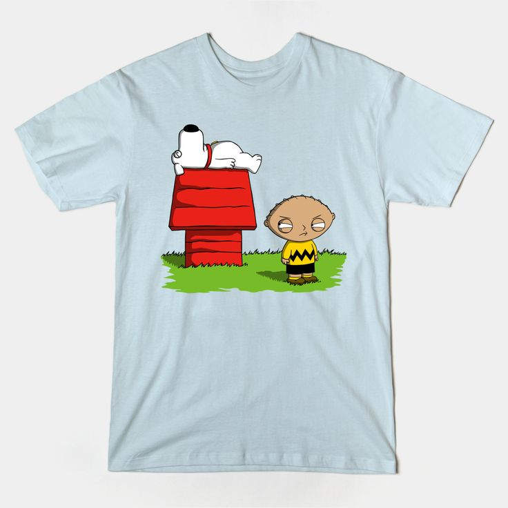 Family Guy Peanuts T Shirts | Stewie Griffin is Charlie Brown and Brian is Snoopy in this fantastic cartoon crossover design. | Visit http://shirtminion.com/2015/03/family-guy-peanuts-t-shirt/