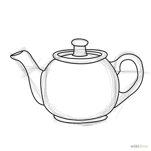 Draw a Teapot | Tea pots, How to draw and Teas Teapot Drawing Tumblr