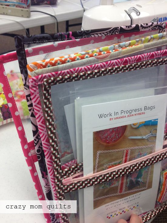 crazy mom quilts: WIP bags for storing and organizing quilting projects