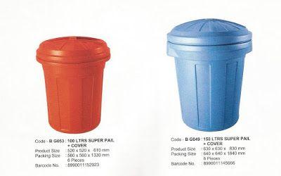Selatan Jaya distributor barang plastik Surabaya: tong plastik super pail 100 liter dan 150 liter me...