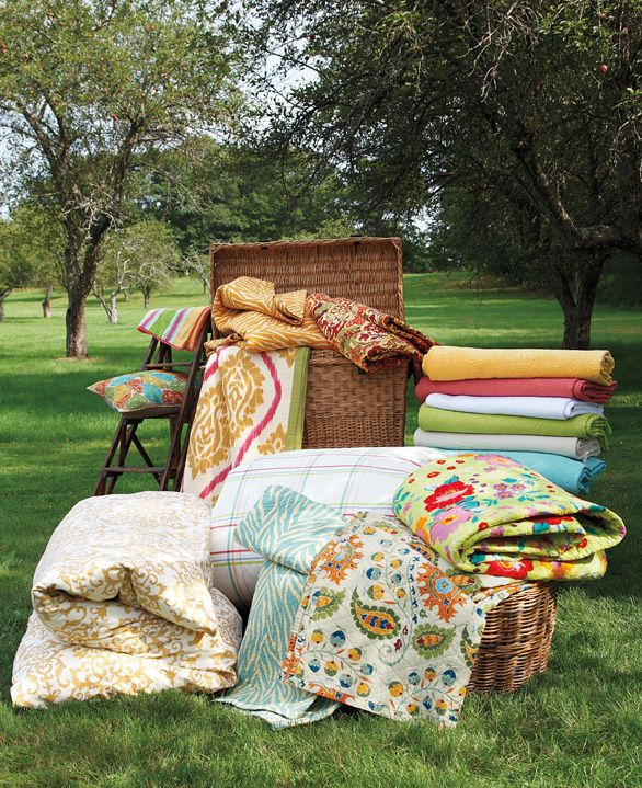 Dress your bed with one collection or mix and match to create your own unique style. #bedding #fabrics