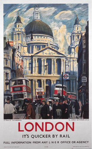 London - St Pauls Cathedral Art Print by National Railway Museum Easyart.com