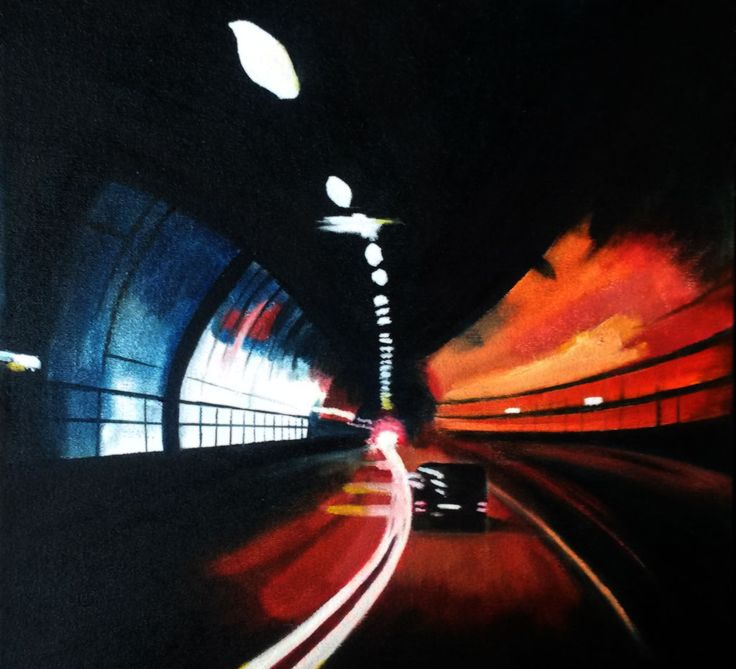 Tunnel. Oil on canvas