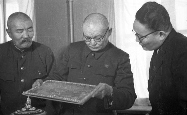 L. to R., Bumtsend, Choibalsan and Tsedenbal (1950's).