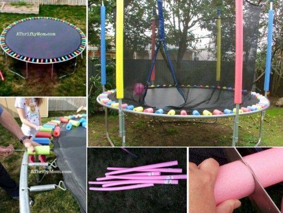 Pour le trampoline de l'école