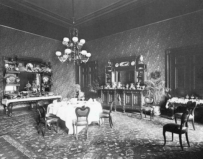 glimpses of the old family dining room