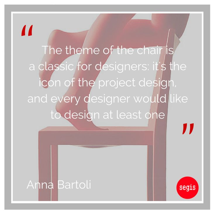 "Interviewed by Blogo, Anna Bartoli from Bartoli Design Studio spoke about our ‪#‎Breeze‬ and ‪#‎Uno‬ chairs, and said: ""Today there are many chairs, made of very different materials and for all tastes. Rationally there would be no need, but the market continues to look for new chairs, because the seat is an archetype in the human culture as well as one of the objects used in everyday life""."