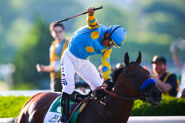 "American Pharoah Wins Belmont Stakes and Triple Crown -   ""Holy Shit,"" covers it! I've literally waited a life time to see this!"
