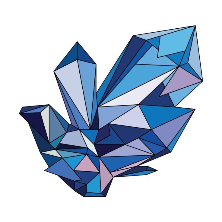 blue diamond by polygon's Artist Shop