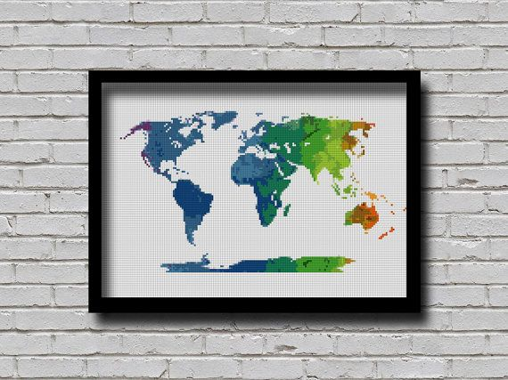 Hey, I found this really awesome Etsy listing at https://www.etsy.com/listing/266170027/bogo-cross-stitch-pattern-world-map