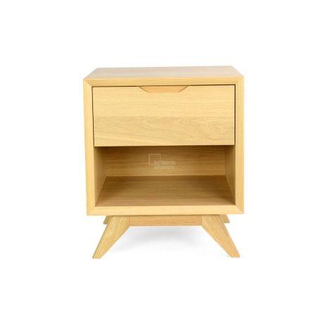 Nora Scandinavian Lamp Side Table - Natural - Bedside Tables - Bedroom