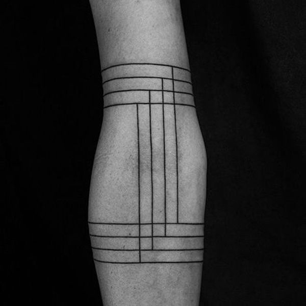 would make it five lines so it could be a music staff!    Original Line Tattoo Designs (42)