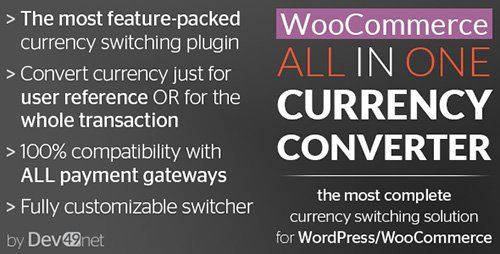 CodeCanyon - WooCommerce All in One Currency Converter v2.7