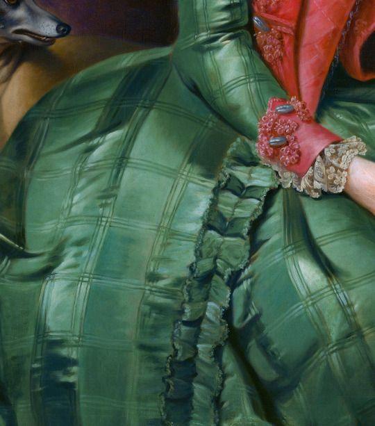 """""""Portrait of Princess Frederika Sophia Wilhelmina"""" (1768-1769) (detail) by Johann Georg Ziesenis (1716-1777)."""