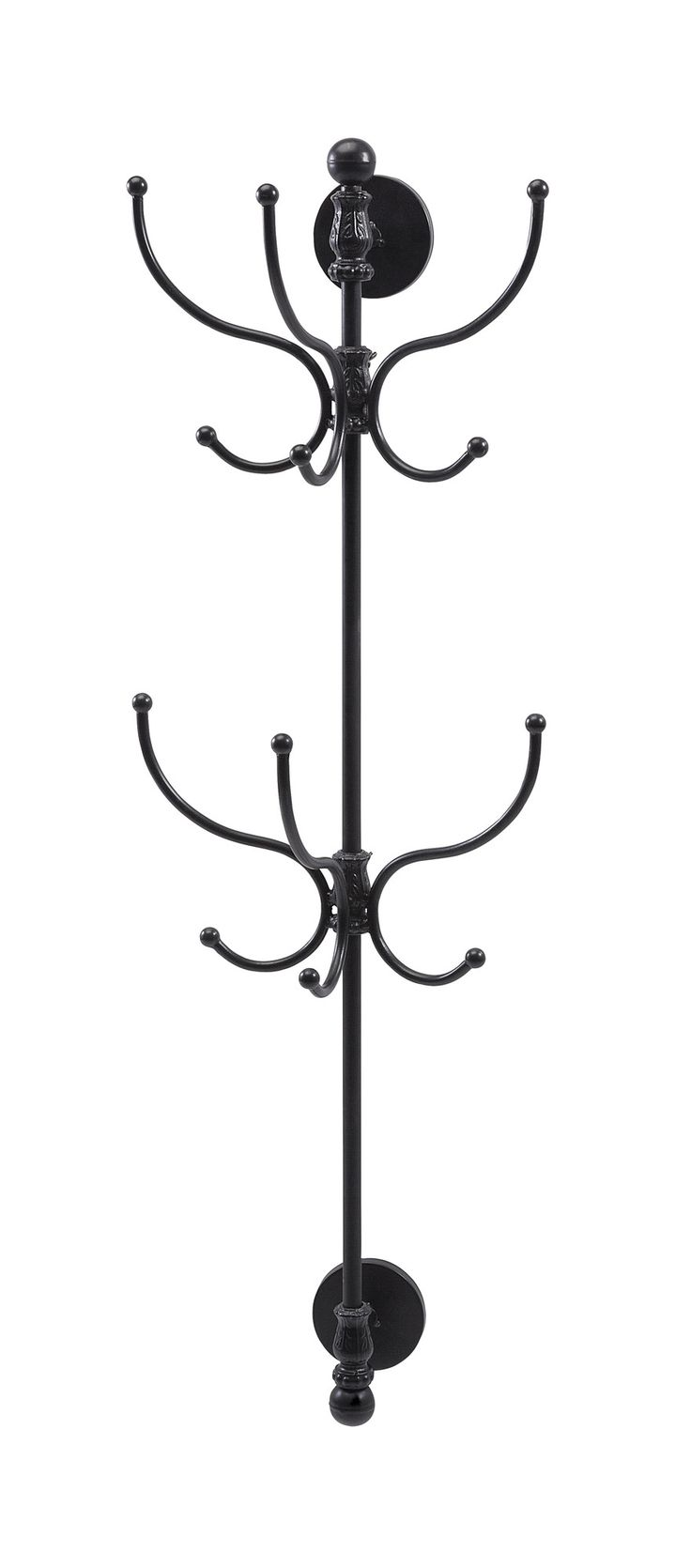 "Features:  Style: -Traditional.  Finish: -Black.  Frame/Rail Material: -Metal. Dimensions:  Overall Height - Top to Bottom: -43.5"".  Overall Width - Side to Side: -10.75"".  Overall Depth - Front to Ba"