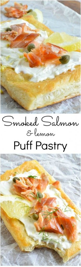 17 best ideas about salmon appetizer on pinterest smoked for Puff pastry canape ideas