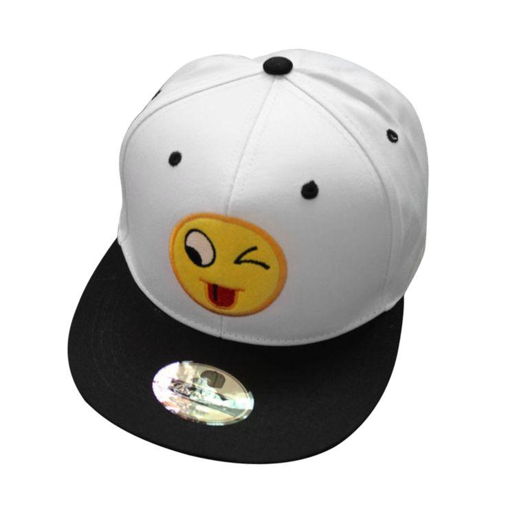 QQ Emoji Smile Hat Cap Cute Cartoon QQ Expression Eyes Embroidered Baseball Cap Hip Hop Dance Male And Female Couple