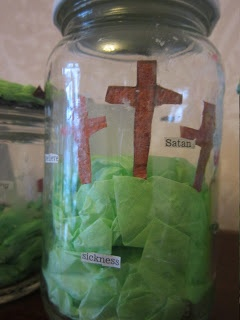 The Easter Story in a jar...if I had a class this would have been a project! Sigh....