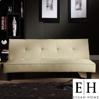 @Overstock - Combine contemporary style and convenience with this faux leather mini futon sofa bed. Made from a plywood frame with espresso finish, this futon is upholstered with high-quality beige faux leather that makes it compatible with most home decors.http://www.overstock.com/Home-Garden/ETHAN-HOME-Bento-Beige-Faux-Leather-Mini-Futon-Sofa-Bed/5947208/product.html?CID=214117 $179.99