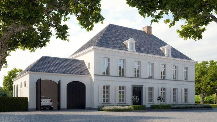 Grey roof, grey-white exterior, garage door color
