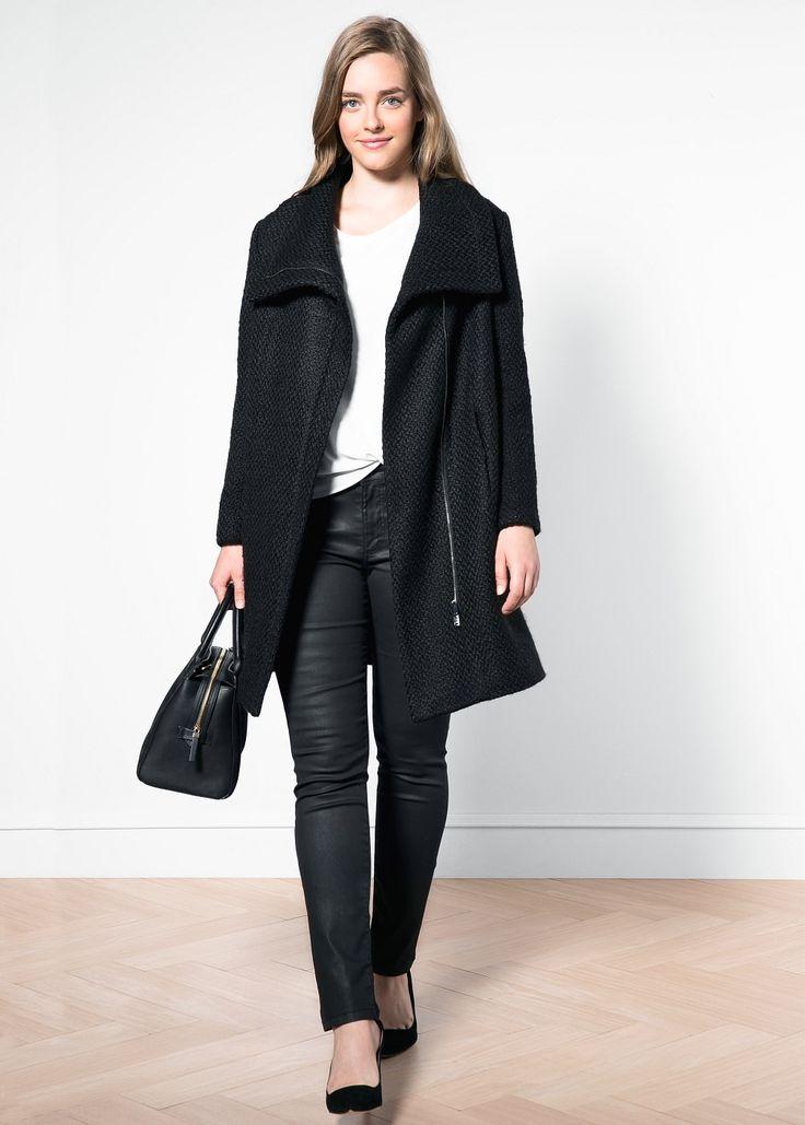 Manteau en tissu bouclé - Manteaux pour Femme | MANGO