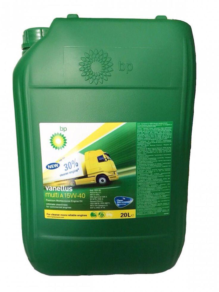 65,00€ · Aceite BP Vanellus MULTI A 15W40 20L · ACEITE BP VANELLUS MULTI A 15W40 20L Bp vanellus multi a 15w40 20l. los fabricantes aprobaron este lubricante para su uso con intervalos extendidos de cambio de aceite. aceite para camión. acea e5, e7 api ci-4/sl cat ecf-2 ces - 20. 076 ces - 20. 077 deutz dqc iii-10 aceitecochemadrid. com frente al gimnasio los cedros · Vehículos > Recambios de vehículos > Recambios para coches > Aceite de coche