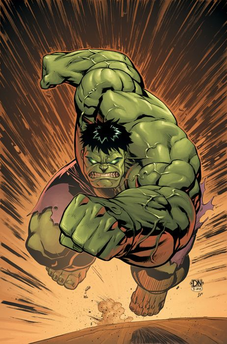 Cover of Marvel Adventures: Hulk #14, probably my personal favorite Hulk cover to date. Pencils and Inks: Me Colors: Brad Anderson