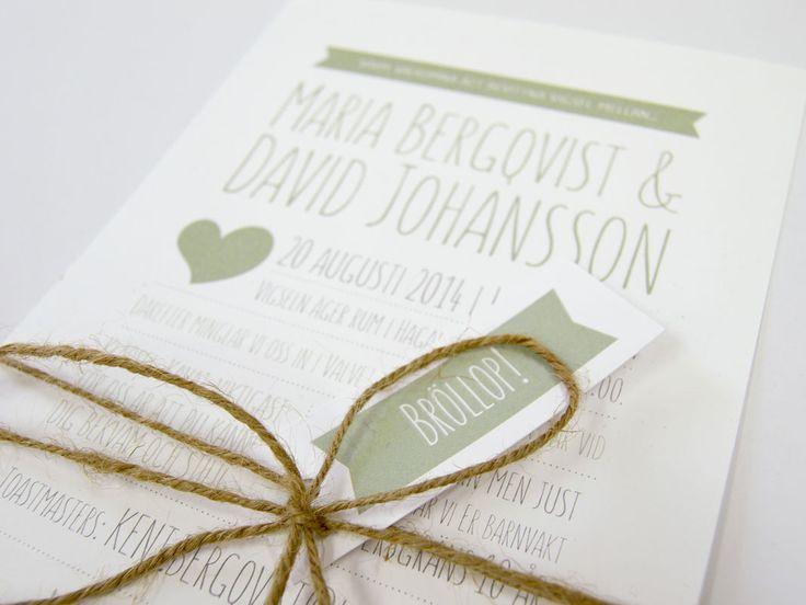 En bröllopsinbjudan rosa grönt eller blått. Här väljer ni en färg som våra designers lägger in på era bröllopskort. Eller så väljer ni en valfri färg.