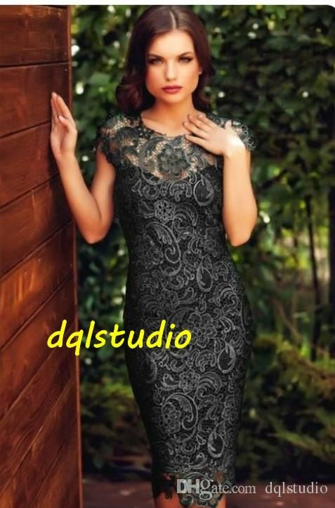 Sexy Lace Cocktail Dresses Cap Sleeve Zipper Back Knee-Length Lace Party Dresses New Arrival Sexy Gowns Cheap Custom Made Lace Cocktail Dresss Party Dress 2017 Online with $99.0/Piece on Dqlstudio's Store   DHgate.com
