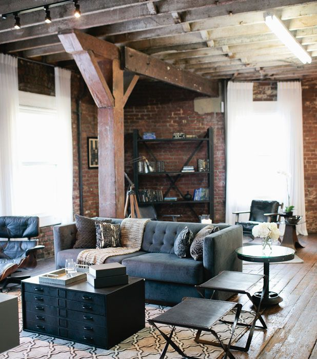 Empty Loft Living Room Makeover - American Dream Builders Makeover - House Beautiful